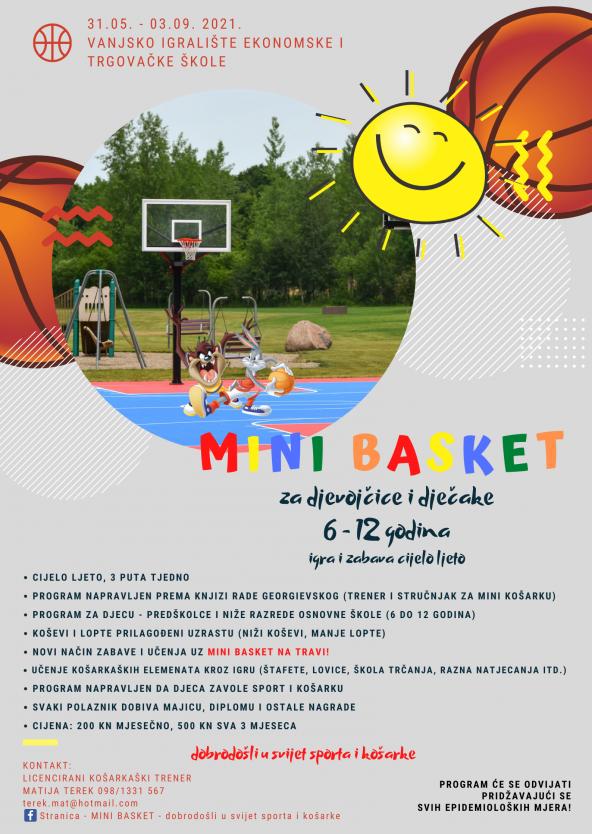 mini basket plakat i prijavnica